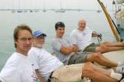 Lorax crew waiting for wind-GPYC regatta