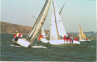 Crossing upwind