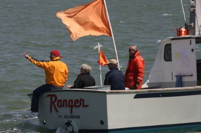 P.R.O. Fred Paxton and crew on Ranger