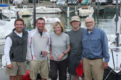 Lorax Crew--David Rueda, Graham Semivan, Sarah Deeds (skipper)Paul & Ralph Deeds