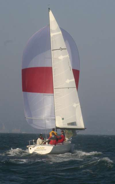 D4--Attitude leads with picture perfect downwind trim